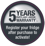 Register for your 5 year warranty after purchase